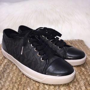 Michael Kors Logo Sneakers Black NWOT 7.5